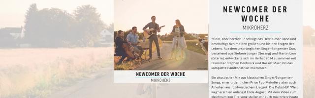 """mikroHerz ist """"Newcomer der Woche"""" bei AMPYA TV"""